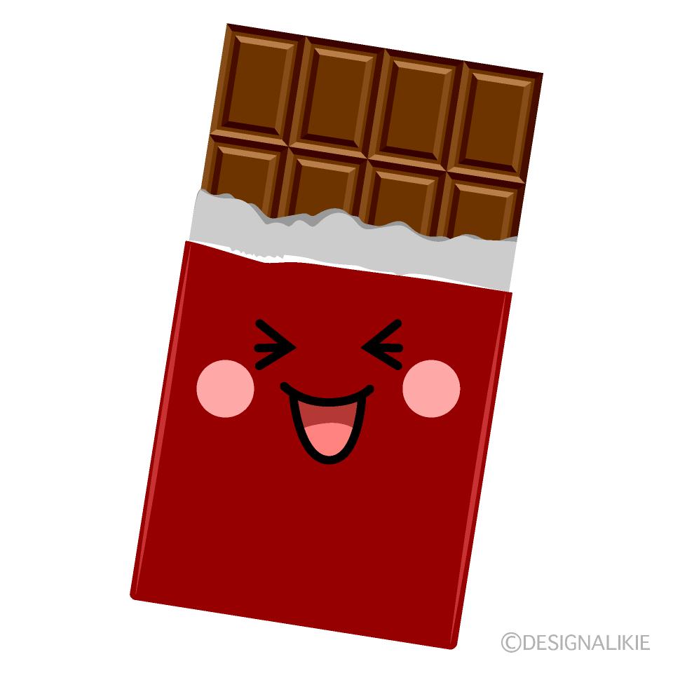 かわいい笑うチョコレートのイラスト素材 Illustcute