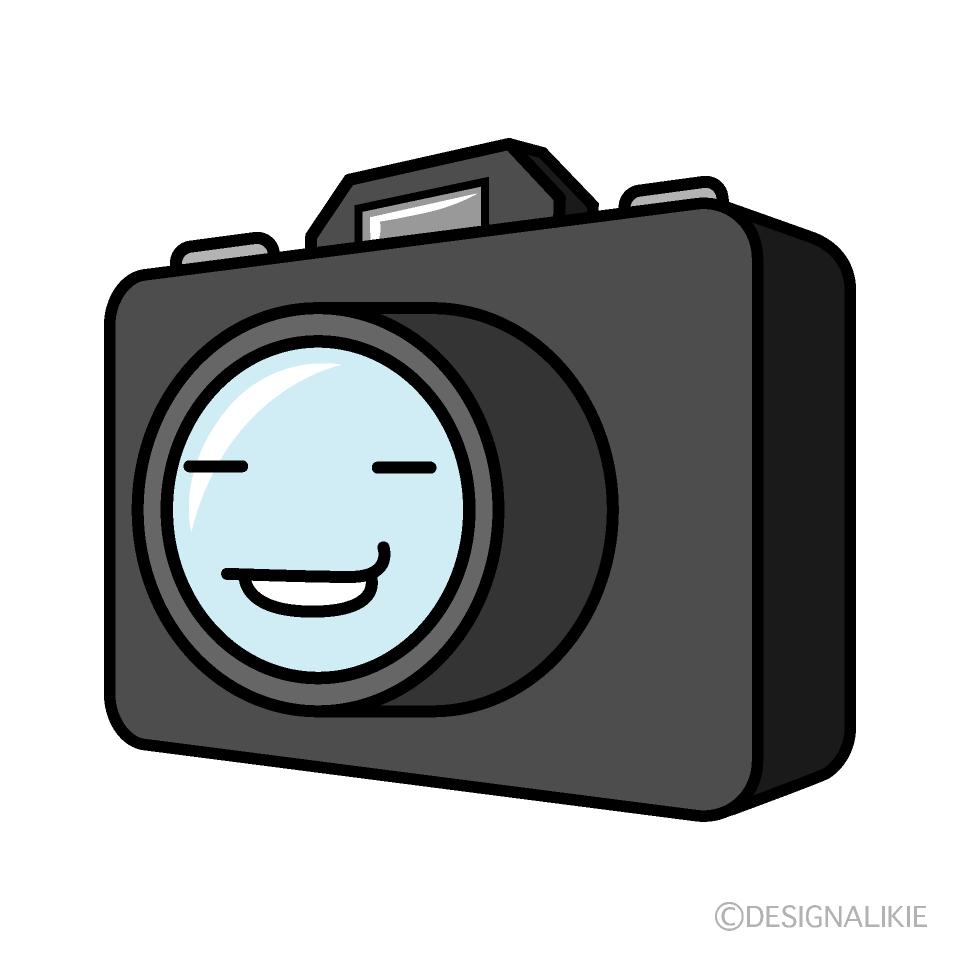 可愛いニヤッするカメラのフリーイラスト素材 Illustcute