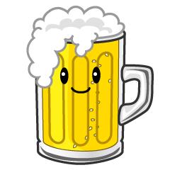 可愛い怒るビールのフリーイラスト素材 Illustcute